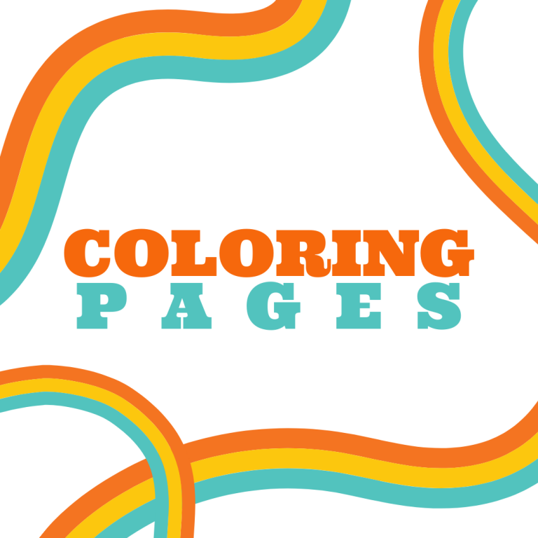 Coloring Pages block with rainbow stripes